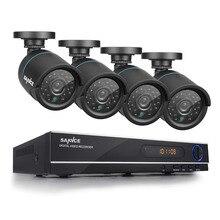 SANNCE HD 1080N 720 P 8-КАНАЛЬНЫЙ Системы ВИДЕОНАБЛЮДЕНИЯ Видеорегистратор DVR 4 ШТ. 1200TVL 1.0MP Камеры Наблюдения ИК CCTV комплекты для Дома безопасности