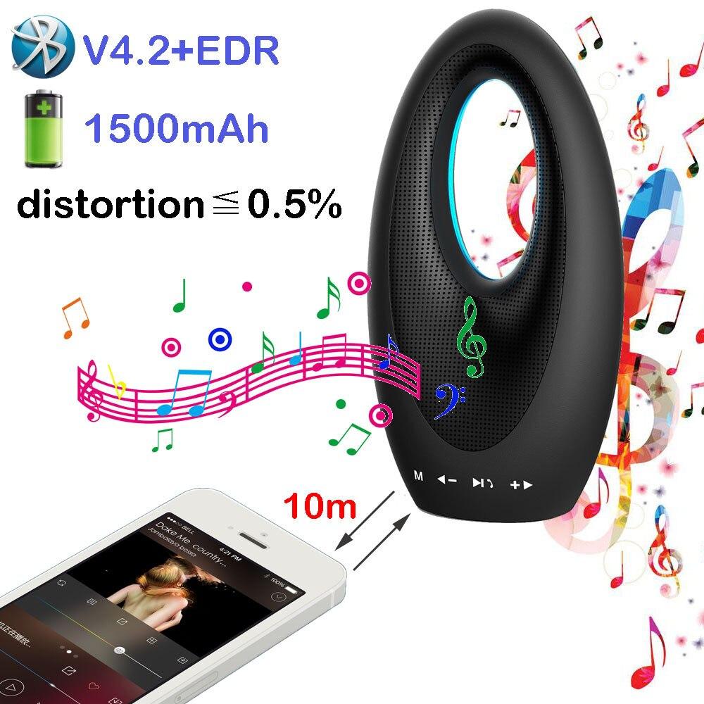 Nouveau design tactile sans fil Bluetooth V4.2 haut-parleurs haut-parleur Portable avec son HD et basse pour iPhone, Samsung, Android, ordinateurs portables PC