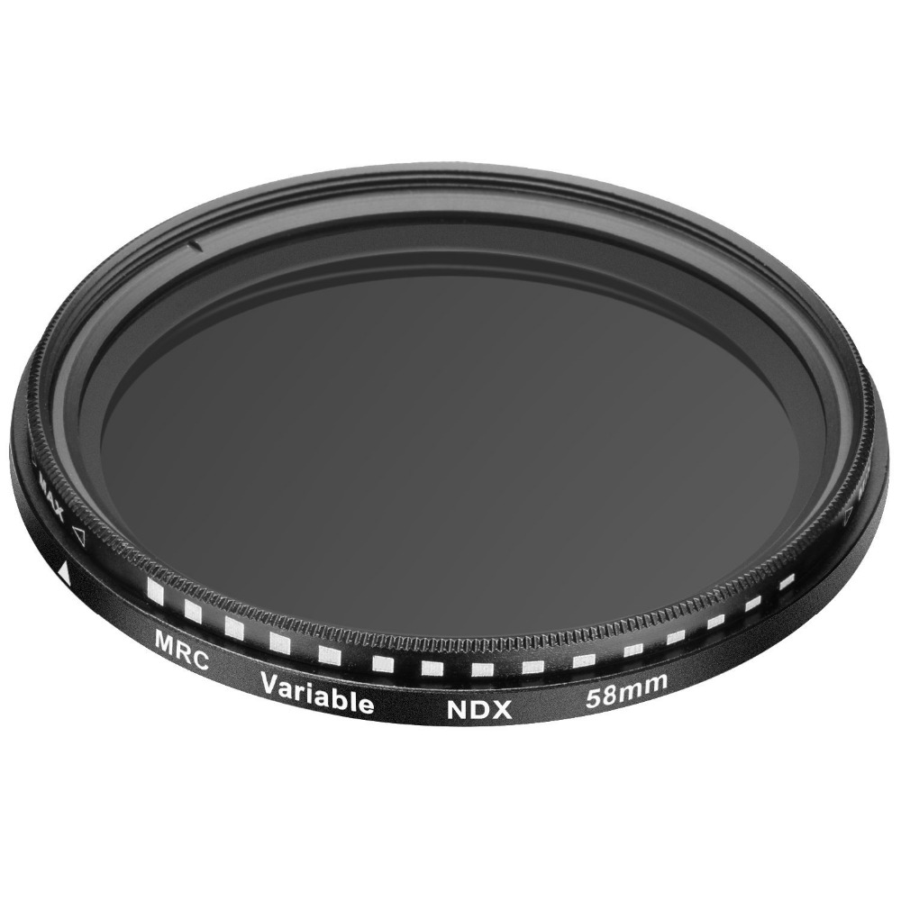 Neewer 58 MM Ultra Mince ND2-ND400 Fader Réglable Lentille Filtre pour Canon EOS 750D 760D 650D 600D 550D 500D 450D 400D 350D 300D 7D