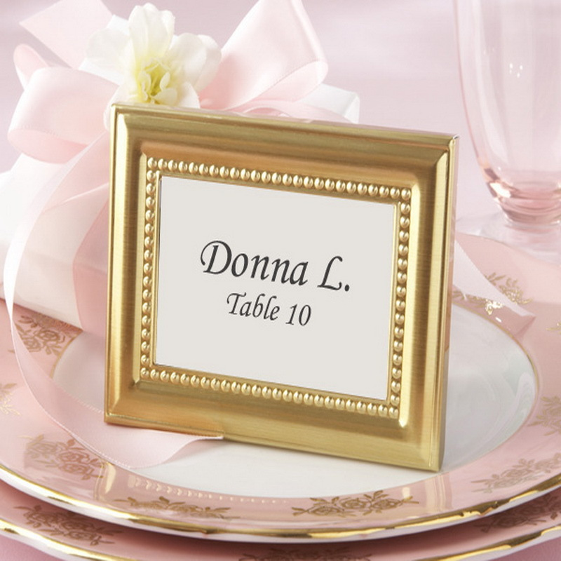 Free Shippingbeaded Gold Place Card Photo Frame Party Wedding