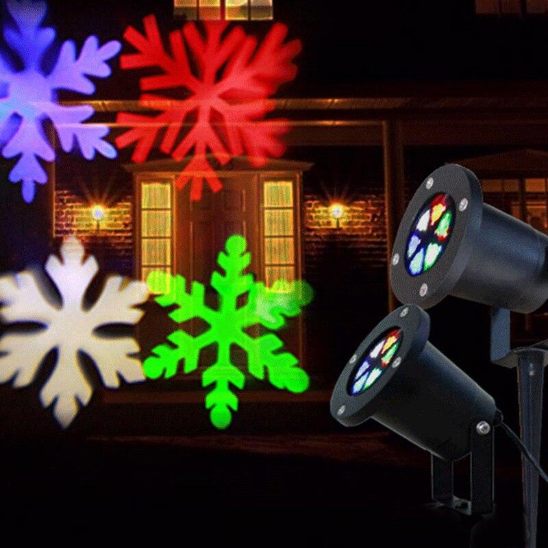 Image 5 - Litwod Z27 屋外スノーフレーク Led ステージスノーマシンライト防水ライトクリスマスホリデーホワイト & Rgb 色照明パーティー 220V 110Vsnow lightholiday lightssnowflake led -