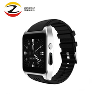 3G Wi-fi X86 MTK-6572 Relógio Inteligente Android 4.4 600 mah da bateria inteligente relógio Da Câmera Cartão Sim Smartwatch DZ09 VS Vs VS Dm98 QW08