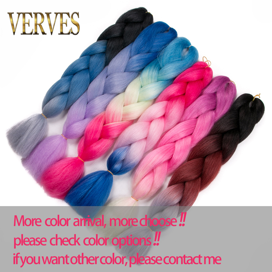 VERVES Braiding Hair 1 piece 24 '' Syntetisk Jumbo Braids 100g / - Syntetiskt hår - Foto 3