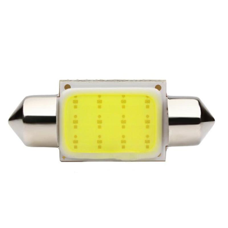 Большая Акция белый цвет света 12 фишек УДАРА авто купола фестона Интерьер светодиодная подсветка лампа настольная лампа 31/ 36/39 мм 10 шт./лот