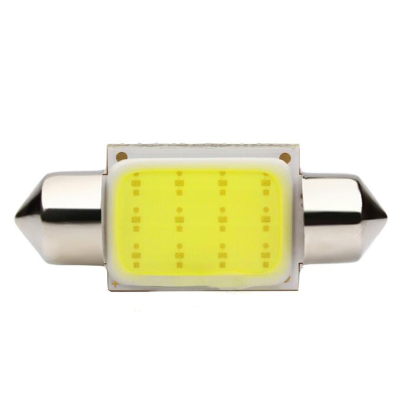 Big Promotion White color Light 12 Chips COB Car Auto Festoon Dome Interior LED Lights Lamp Reading Bulb 31/36/39mm 10pcs/lot g4 3w 280lm 3000k ac 12v led cob car bulb cabinet dome light soft white