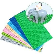 512 Duploe Big Bricks Base Plate 16*32 Dots 51*25.5cm Baseplate Building Blocks Toys For Children Duplos