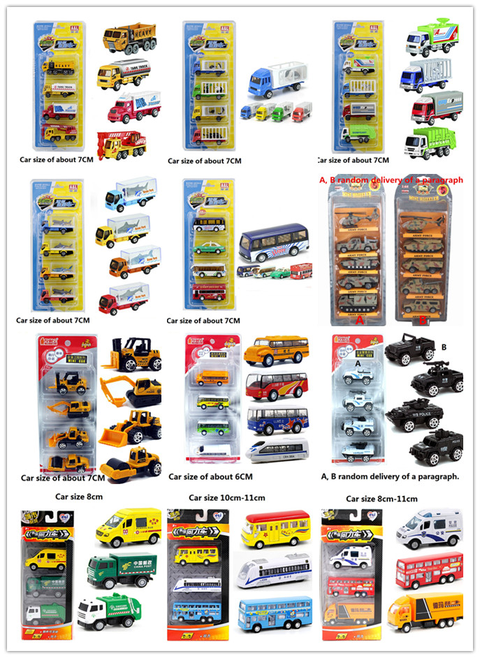 4pcs 1 64 Caravan Armored Car Trains Alloy car model Children s toy sets Variety of