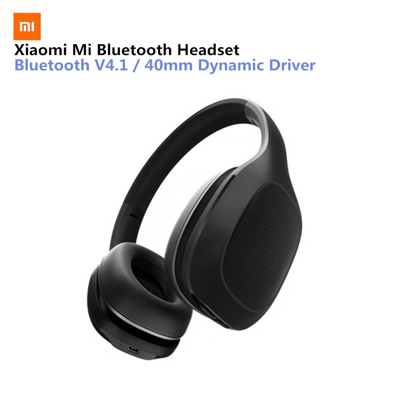 Xiaomi Mi Bluetooth Wireless Headphones 4.1 Version Bluetooth Earphone aptX 40mm Dynamic PU Headset For Mobile Phone Games mi headphones comfort white