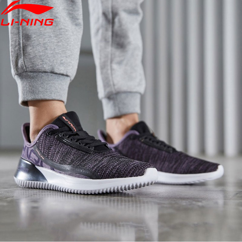 Li-Ning Women ACE RUN Cushion Running Shoes Mono Yarn Breathable Comfort LiNing Fitness Sport Shoes Sneakers ARHP068 XYP880