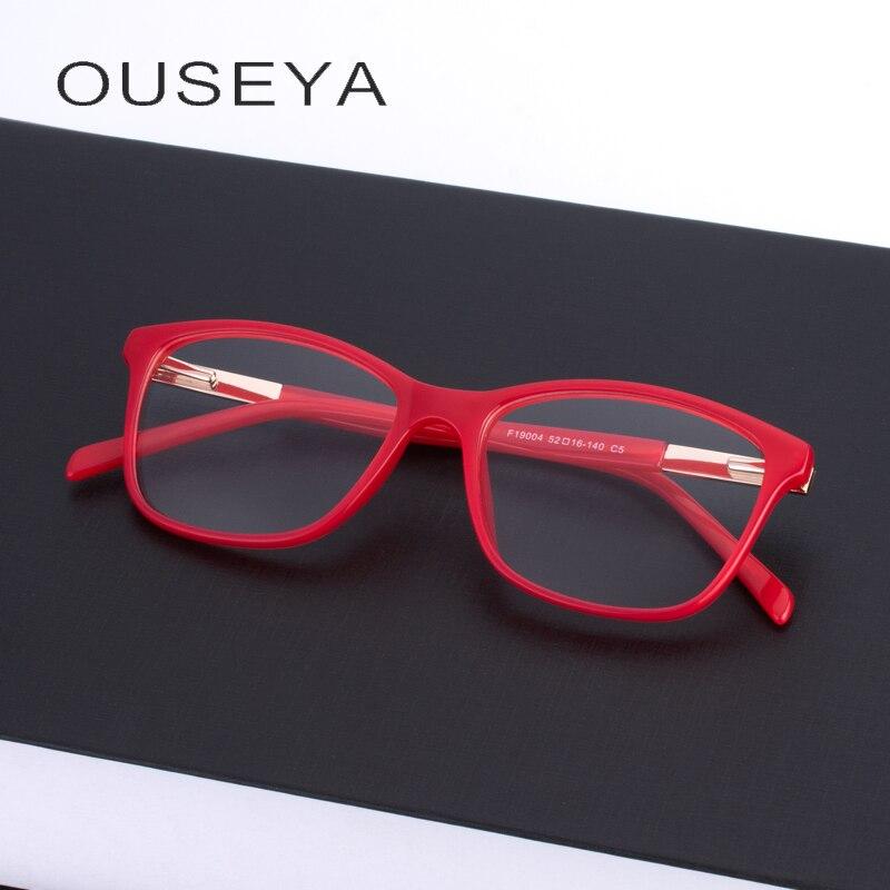 bcc67c12a5 Women TR90 Eyewear Frame Cute Optical Transparent Prescription Clear  Glasses Frames  F19004