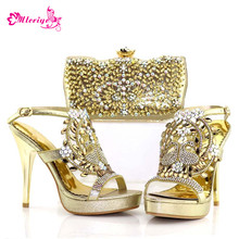 526b1f6d2 Los últimos zapatos y bolsos de fiesta nigerianos de Color dorado juego de  zapatos y bolsos italianos Envio Gratis zapatos de bo.