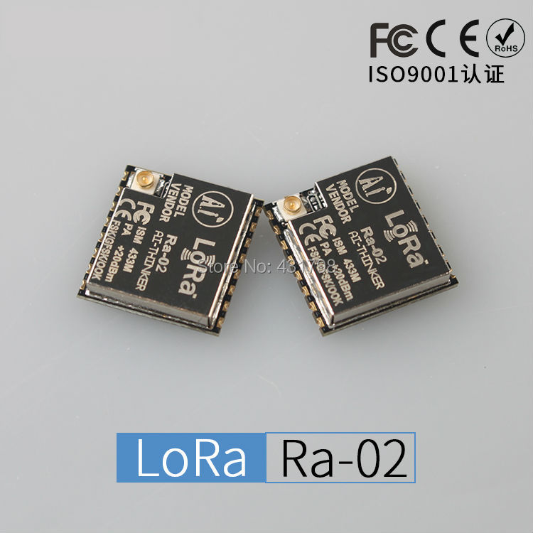 LoRa Series Ra-02 / Spread Spectrum Wireless Module / Ultra-10KM / 433M / RF Chip SX1278 / IOT Artificial Intelligence wireless module 433mhz digital broadcasting station lora spread spectrum rs232rs485 5km remote
