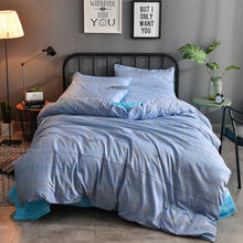 2018 NEW IN Hot!!!Free Shipping Fashion Plaid AB Side Style 4PCS Bedding Set All Sizes BED SET bedsheet bedclothes/duvet covers