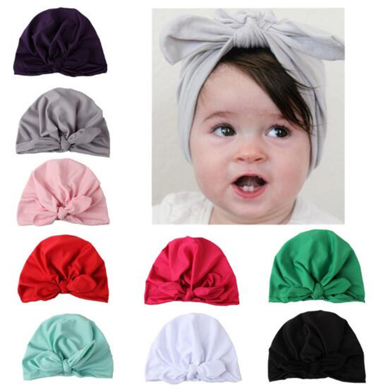 2017 Lovely Kids Baby Cotton Hat Soft Hat Stretchable Cap Beanie