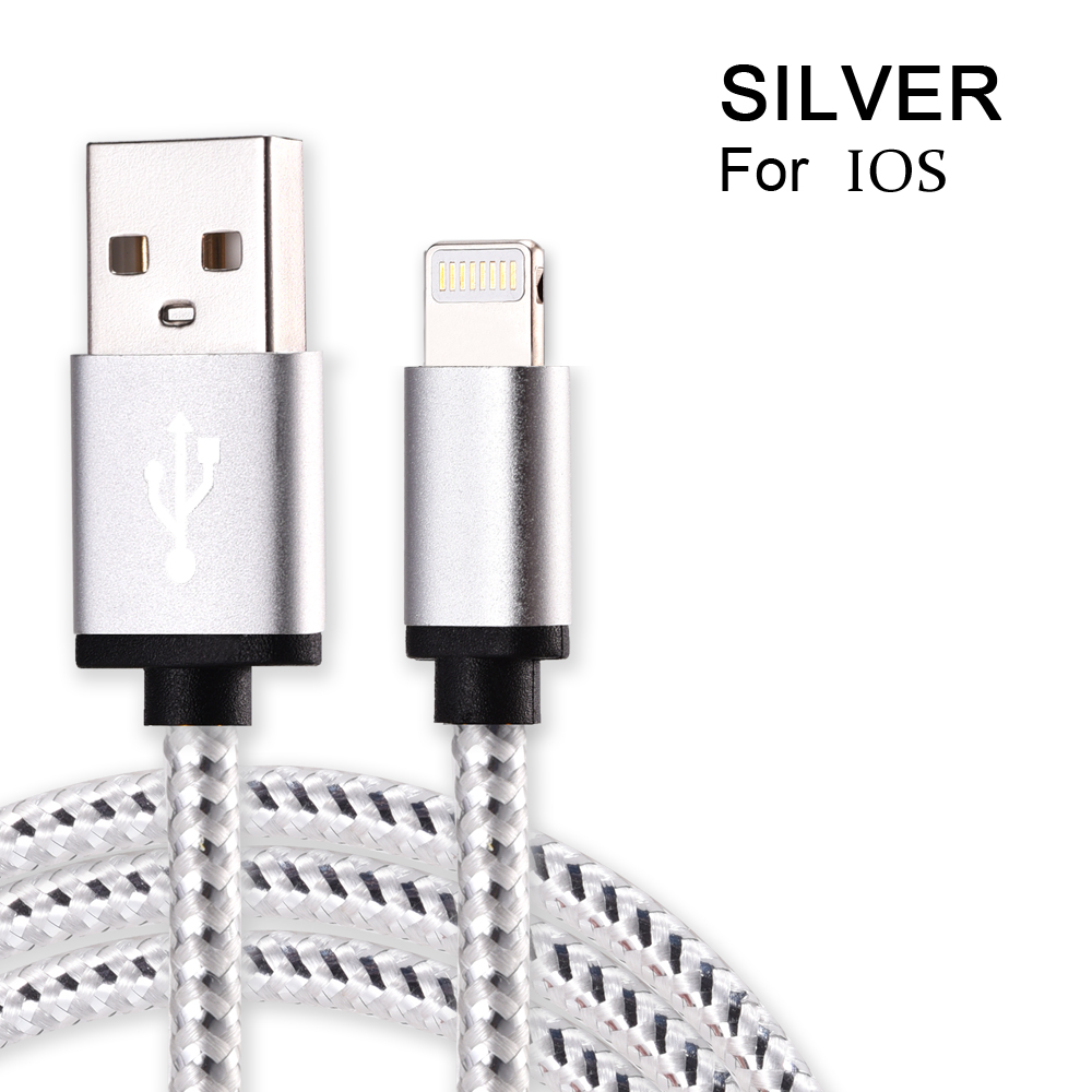 Olsonbo USB Cable For IPhone 5s I5 6s 6 7 Plus Mobile Phone Cable Data Sync Charger 25cm 1M 2M 3M Wire For Ios 9 10