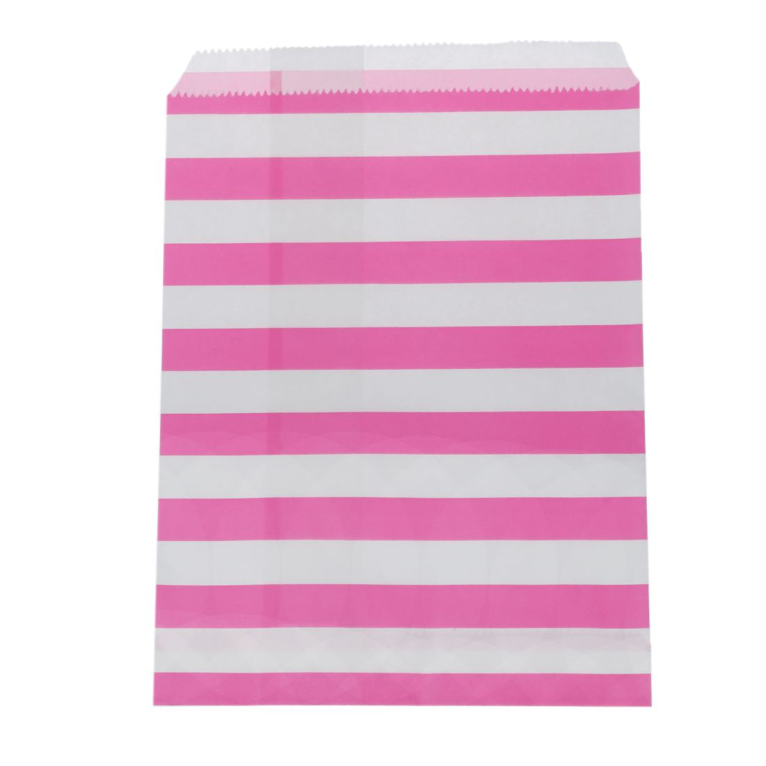25pcs Striped printed Grease proof Hamburger Fried Chicken Food Paper Bag For Wedding Party pink