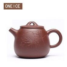 Китайская чайная посуда Исин, чайные горшки из фиолетовой глины, чайный горшок с высоким камнем, совок, чайник, чайник, авторский: Zhou ting 160 мл, китайские чайные горшки Zisha