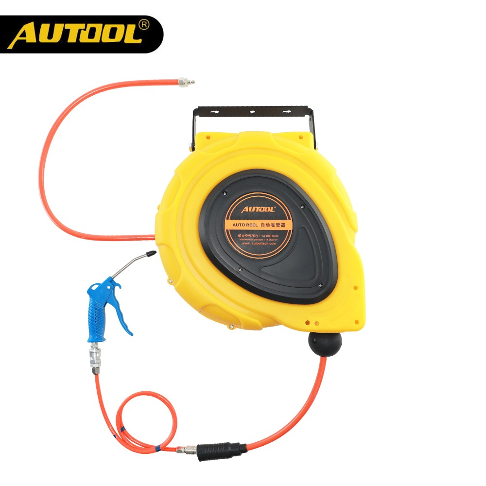 Enrouleur de tuyau d'air automatique de 3/8 pouces 15 m étendre les tuyaux de plomberie enrouleur rétractable automatique pour Kit de réparation de voiture
