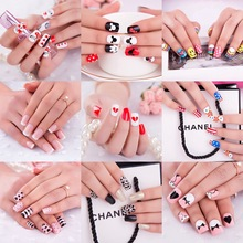 22 Style Options 24pcs/Pack Short False Nails French Fake Nails for Nail Art Design  Nail Tips Faux Ongles Free Glue Pre Designe