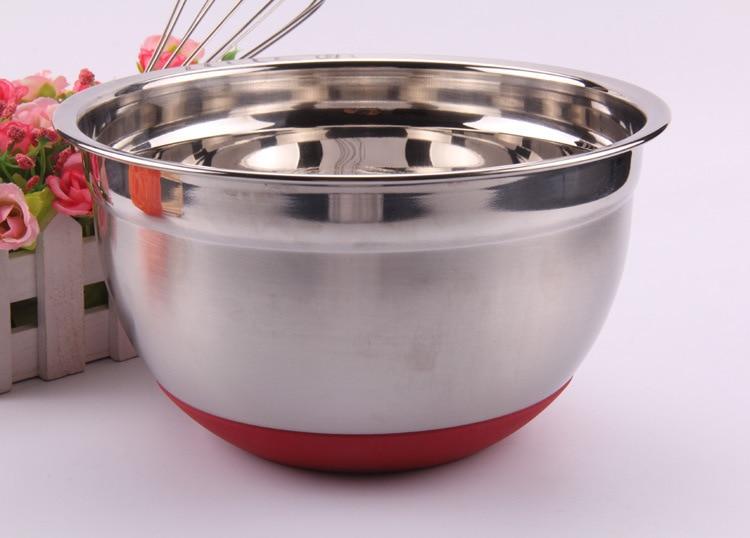 1 PC 20 cm Stainless Steel Dalam Pencampuran Mangkuk, Ekspor Baja - Dapur, ruang makan, dan bar