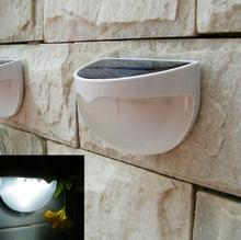 10pcs/lot Solar Powered LED Rechargeable 6 LED Fence Garden Solar Light Lawn Fence Wall Solar Lamp Outdoor Pathway Spot Lighting