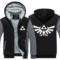 High Quality The Legend Of Zelda Link Men Thicken Hoodie Women Anime Zipper Coat Jacket Sweatshirt