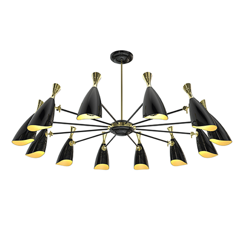 Modern Pendant Lights For Dining Room 12 Lamp Holder Black Lampshade E27 Holder For Deco Living Room And Lamp Kitchen