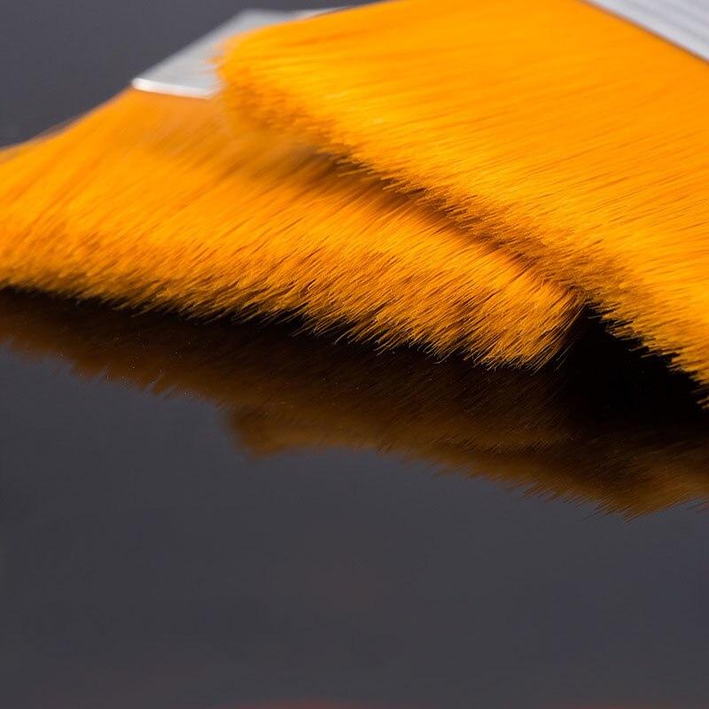 Купить с кэшбэком EZONE Nylon Hair Painting Brush Oil Watercolor Water Powder Propylene Acrylic Different Size Paint Brushes School Art Supply