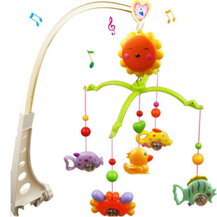 Baby Rattle Toys Newborn Baby Boy Girl 0-12 Months Crib Plastic Rotating Musical Bed Bell Mobile Toys