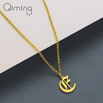 Fashion Jewelry 26 Word Alphabet Love Letter A B C D E F G H I J K L M N O P Q R S T U V W X Y Z Pendant Necklace For Women image