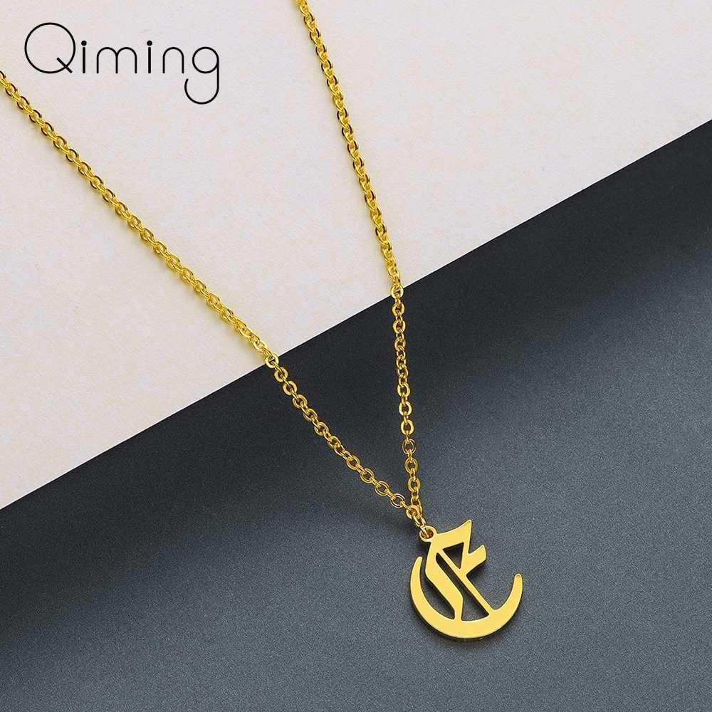 Mode-sieraden 26 Woord Alfabet Liefde Letter A B C D E F G H I J K L M N O P Q R S T U V W X Y Z Hanger Ketting Voor Vrouwen