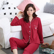 Breastfeeding  Pyjamas milkCotton Clothing Long Tops Set Maternity Nursing Sets Night Suit Sleepwear Women Home Clothes