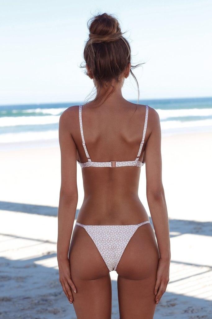 2019 Woman Thong Swim Set Sexy Swimwear Micro Swim Suits Girls Biquinis Female Solid Swimsuit Bathing Suits