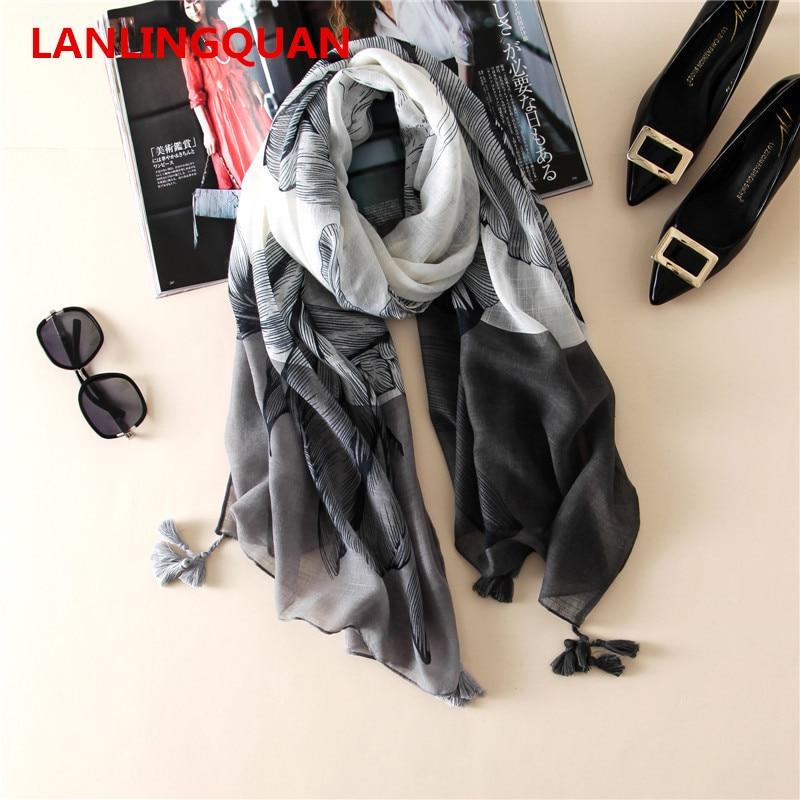 desigual women 2017 bandana winter scarf luxury brand warm fashion print soft cotton Female Designer Pashmina Wraps shawl hijab in Women 39 s Scarves from Apparel Accessories