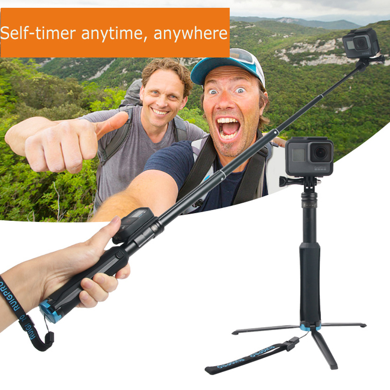 Image 5 - 2in1 Tripod Selfie Stick For iPhone samrtphone Foldable Monopod &Mini Tripod for GoPro hero 8 7 Xiaomi Yi Osmo action camera-in Selfie Sticks from Consumer Electronics