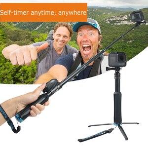 Image 5 - Selfie Stick Monopodพับได้2in1ขาตั้งกล้องสำหรับGoPro Hero 9 8 7 5 Yi SJCAM Osmoกล้อง/โทรศัพท์มือถือ