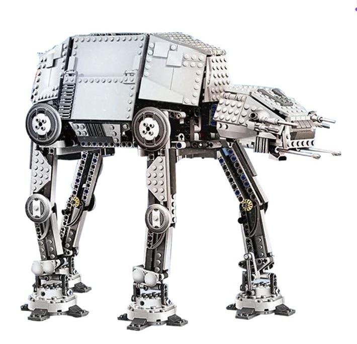 LEPIN STAR WARS Motorized Walking AT-AT Model Building Blocks Bricks Model Kids Toys Marvel  Compatible Legoe