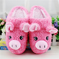 2016 Winter New Cute Cartoon Cotton Slippers The Pig Half A Pack with Slippers Keep To Warm Non-slip Couples House Slippers