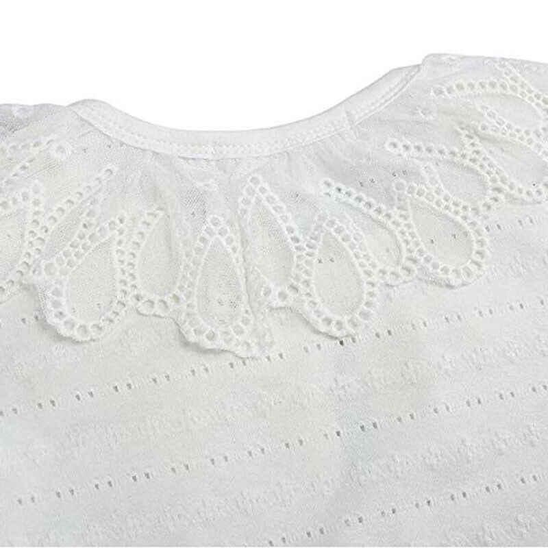חם 1-6Y יילוד פעוטות תינוקת ילד קרדיגן תחרה מגזרת ארוך שרוול פרחוני פניני קרדיגן מעיל החורף מוצק להאריך ימים יותר חולצות