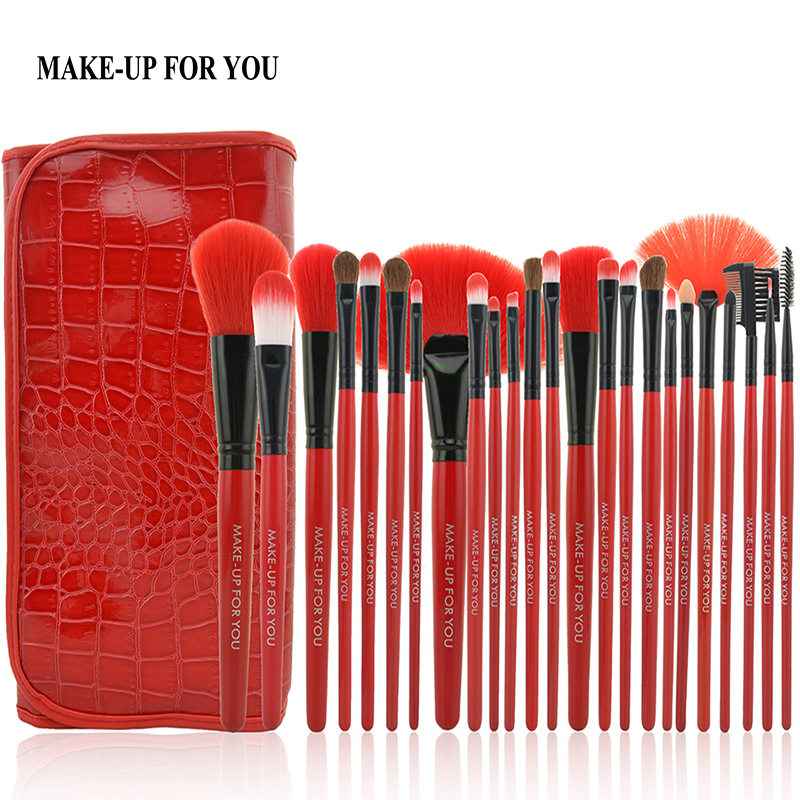 24Pcs Professional Women Makeup Brush set Lipsticks Powder Foundation Eye Shadows Make Up Brushes Tools pincel maquiagem 8pcs rose gold makeup brushes eye shadow powder blush foundation brush 2pc sponge puff make up brushes pincel maquiagem cosmetic