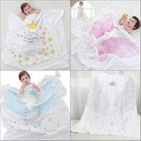 120x120 cm doble capa de algodón muselina gasa bufanda bebé Toallas bebé recién nacido swaddling toalla manta transpirable para bebé