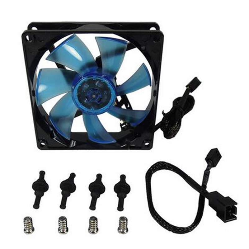 New style 9 cm unique cooling fan 90 mm 12 v DC fan Dimensions 92mm(L)*92mm(W)*25mm(H) Bearing Nanoflux(NFB) Fans cooling maitech dc 12 v 0 1a cooling fan red silver