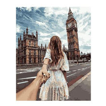 RIHE Lover Hand In DIY Painting By Numbers Kit Acrylic Paint Modern Wall Art Picture Canvas Decor 40*50