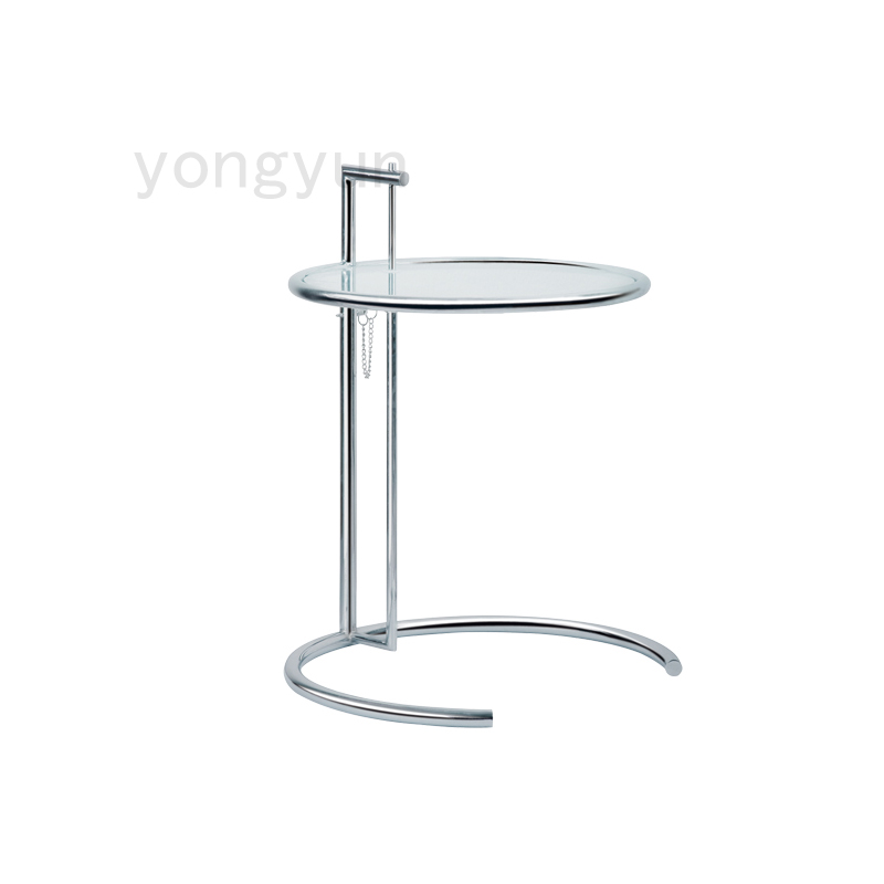 Eileen Gray Side Table with Tempered Glass Top,Eileen Gray End Table,glass side table,modern tea talbe end table