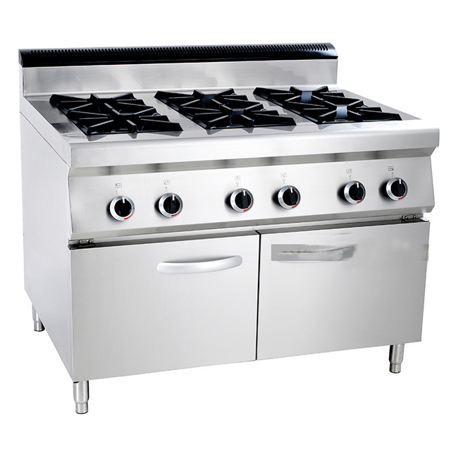 Marvelous RY LUR 890 6 Western Kitchen Machines With Cabinet 6 Burners Gas Cooking