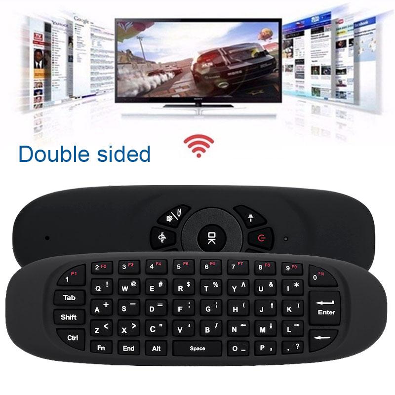 C120 двухсторонняя 2,4G 2 в 1 Беспроводная мини-мышь клавиатура 10 м Голосовая подсветка Сенсорная панель клавиатуры для планшет с ТВ английские клавиатуры
