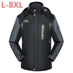 Мужские повседневные куртки plus 10XL 9XL 8XL 6XL 5XL, армейские водонепроницаемые пальто, дышащая ветрозащитная куртка, 2018