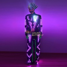 LED ClothesLuminous Costumes Glowing LED Clothing 2015 Hot Fashion Show Men LED Suits Dance Accessories Free Shipping