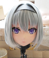 (KM117) Handmade Female Resin Crossdress Pretty Girl 3/4 Head Lolita Doll Mask Japanese Anime Cosplay Kigurumi Mask Crossdresser