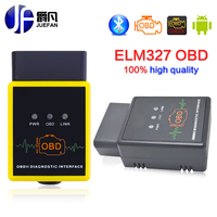 2017 Best Price elm327 OBD II Auto Car Diagnostic tool Code Reader Scanner Tool Bluetooth Best Quality Multi-Protocol Support